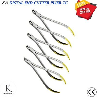 5 x Orthodontic Pliers Distal End Cutter with Cut and Hold Tungsten Carbide Tip