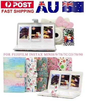 AU 96 Pockets PU Leather Photo Album Storage for Instax Mini 8/9/7s/7C/25/70/90