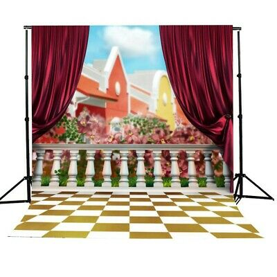 [NEW] 3x5ft Children House Fence Photography Background Backdrop Studio Prop