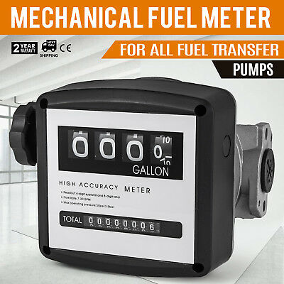 """Fuelworks 15111200A 1"""" Mechanical Fuel Meter, Black"""