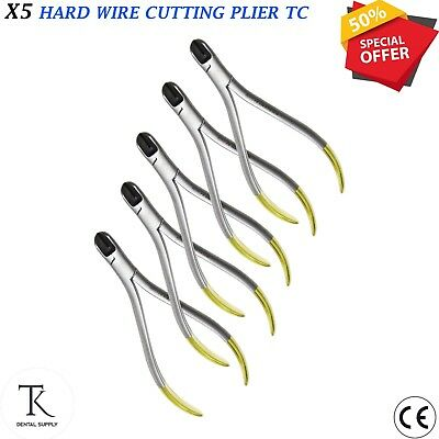 Set Of 5 PCs Hard Wire Cutter Plier Orthodontics ,Wire bending Cutting Pliers TC
