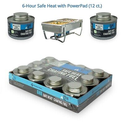 Member's Mark 6-Hour Safe Heat Chafing Fuel with PowerPad (12 ct.) Spill Resist