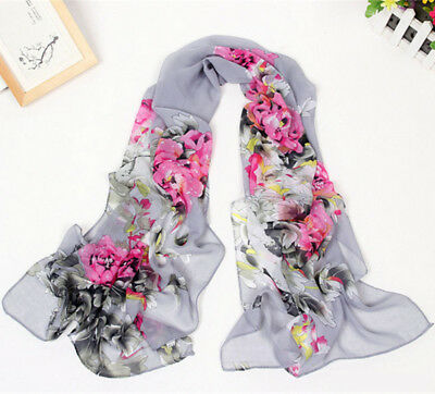 Fashion Stylish Women Long Soft Silk Chiffon Scarf Wrap Shawl Scarves Hot sell