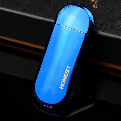 Mini USB Electronic Cigarette Lighters Windproof Rechargeable Blue  Lighter