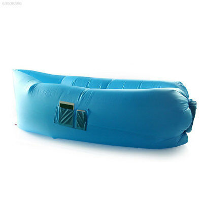 6CB8 Inflatable Hangout Lounge Dream Chair Air Sofa Bag Outdoor Sleeping Bed Blu