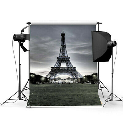 [NEW] 3x5FT Vinyl Eiffel Tower Background Photo Studio Prop Photography backdrop
