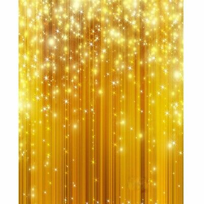 [NEW] 5x7FT Gold Glitter Vinyl Studio Photography Backdrop Props Photo Backgroun