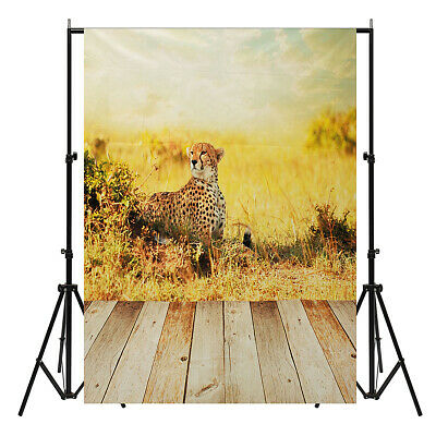 [NEW] 5x7ft Vinyl Love Wood Floor Cheetah Kids Theme Backdrop Photography Photo
