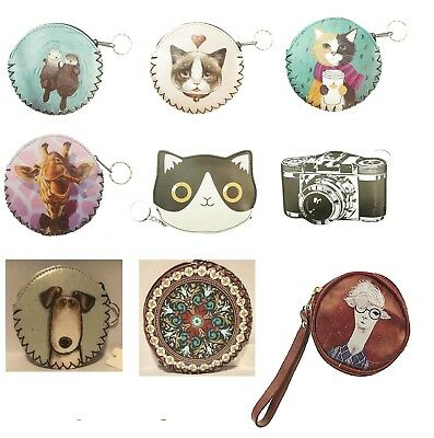 Coin purse with cute animals and shape with key ring