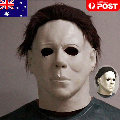 Michael Myers Halloween Cosplay Scary Full Head Mask Costume Latex Fancy Dress