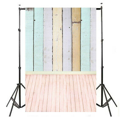 [NEW] 5x10FT Vinyl Colorful Photo Background Wooden Planks Wood Floor Studio Bac