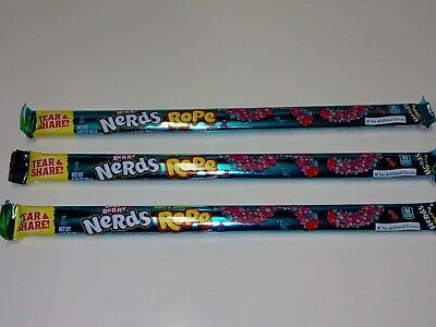 3 x USA Nerds Rope Very Berry Soft and Chewy Candy 26g each