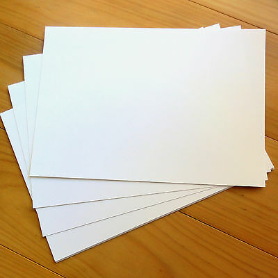 "PREMIUM BLANK 280 GSM A4 CARD x 20 SHEETS ""LINEN WHITE"" - NEW"