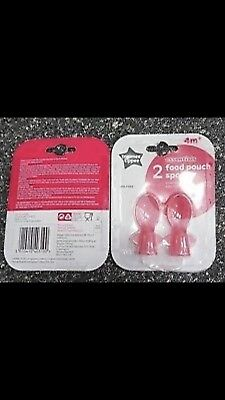 Tommee Tippee Baby spoons, X2 Food Pouche Spoons.