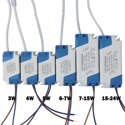 3-24W Dimmable LED Driver Convertor Transformer 300mA Ceiling Light Power Supply