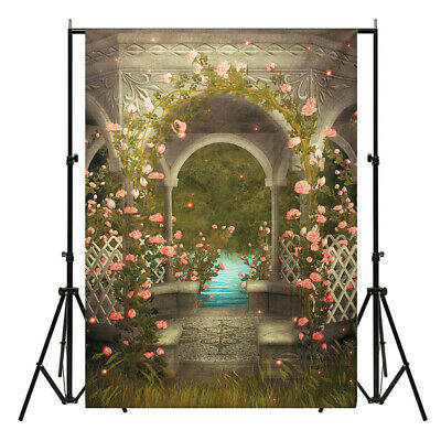 [NEW] 5x7FT Castle Photography Background Wedding Photo Studio Vinyl Backdrops F