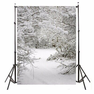 [NEW] 1.5x2.1m Snow Christmas Theme Background Vinyl Photography Studio Backdrop