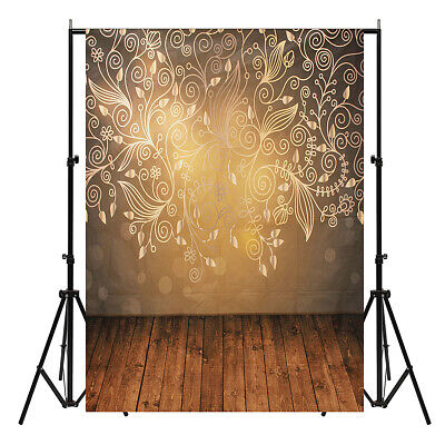 [NEW] 5x7ft Vinyl Wall Wood Floor Photography Backdrops Photo Studio Background