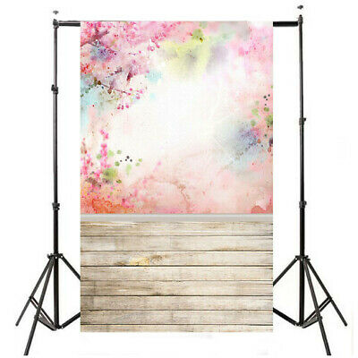 [NEW] 5x7FT Watercolor Pink Flower Floor Photography Backdrop Photo Background P
