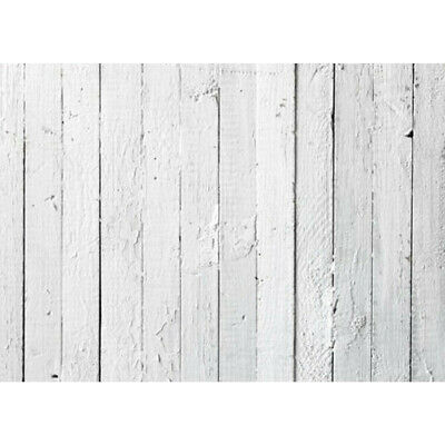 [NEW] 7x5FT Vinyl Wood Grain White Floor Photography Backdrop Background Photo S