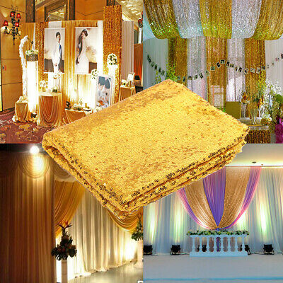 [NEW] 3X5FT Gold Sequin Photo Backdrop Wedding Photo Booth Photography Backgroun