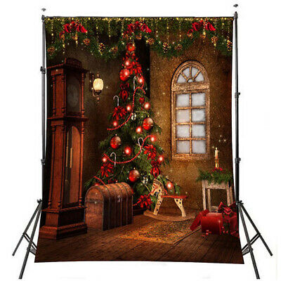 [NEW] 5x7FT 3x5FT Christmas Tree Gift Wall Vinyl Photography Backdrop Photo Back