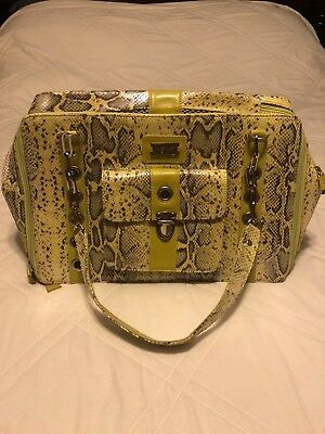 Cece Kent Lilly Rio Dog Carrier/Bag/Tote in Lime~Sz Small Dog