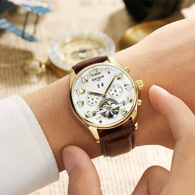 KINYUED Men Mechanical Watch 30m Waterproof Automatic Calendar Business Watch HQ