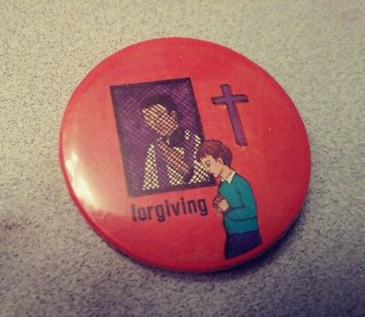 Funny Adult Religious Prayer Forgiveness Pin Button Altar Boy Priest Humor