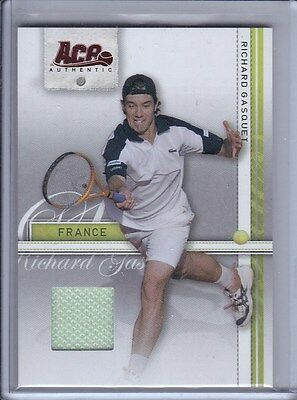 2007 Ace Authentic Straight Sets Materials #32 Richard Gasquet