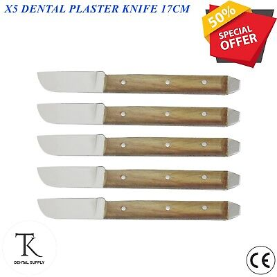 5 x Laboratory Instruments Plaster Wax Knife Alginate Mixing Knives Dental Tools