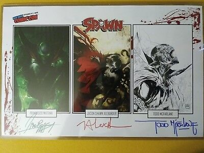 NYCC 2018 exclusive Spawn print, 3X SIGNED by Todd Mcfarlane, Mattina, Alexander
