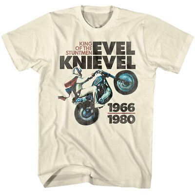 Evel Knievel King of The Stuntmen Men's T Shirt Motorcycle Biker Wheelie 1966