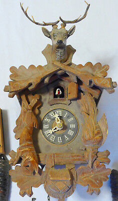 Antique Vintage Old Cuckoo Clock SPARES or REPAIRS not working
