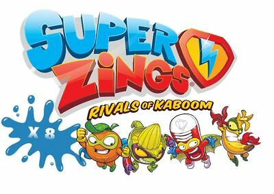 SuperZings Rivals of Kaboom - Random Assorted Figures x 8 - Series 1