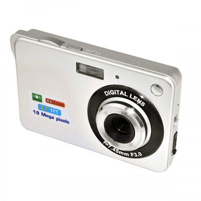 "Digital Camera, Mini 18MP 2.7"" 8 Zoom Anti-shake Full HD Family Recording NEW US"