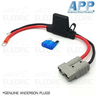 Genuine Anderson Plug 50A 8 B&S Cable Lead 8mm Lugs 300mm Battery Charger 4X4
