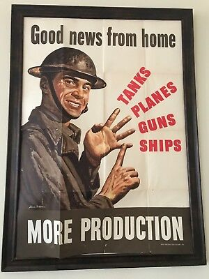 More Production! WWII Poster War Production Board A6 ORIG.