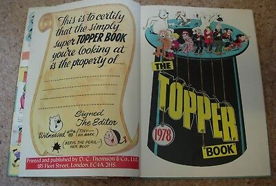 The Topper Book 1978 by DC Thopmpson