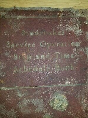 1938-42 Studebaker Service Operations Book Stiff Cover