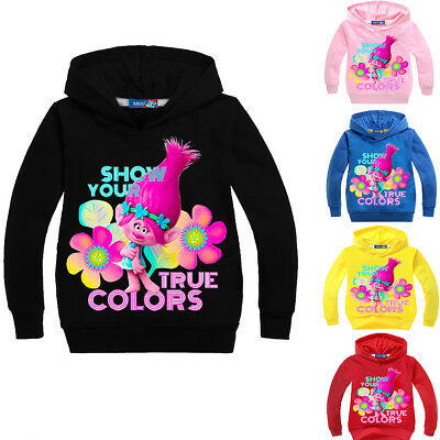 Girls Kids Trolls Cotton Sweatshirt Hoodie Spring Fall Pullover Casual Clothing