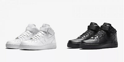 finest selection 29050 dfdd1 SNEAKERS ALT UOMO NIKE AIR FORCE 1 MID  07 315123 111 Bianco 315123 001 Nero