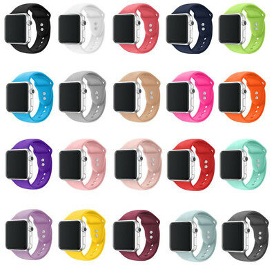 For Apple Watch Series 4 38/42 Soft Replacement Silicone Wrist Sport Band Strap