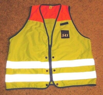 Sas Scandinavian Airlines Employee Reflective Safety Vest Xl Ship To Worldwide