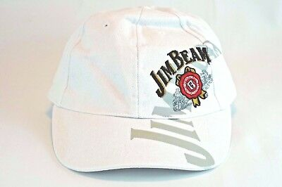 JIM BEAM White Baseball Cap Truckers Hat Mens Accessories Embroidered