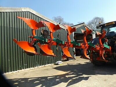 Kverneland 5 Furrow Auto Reset Plough 2009 Good Condition with New Metal Fitted