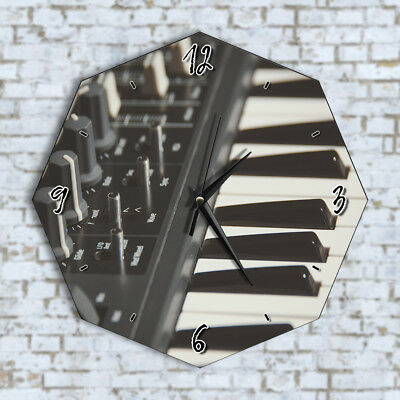 Piano Keys Music Playing Home Office Kitchen Kids Living Room Decor Wall Clock