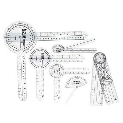 [NEW] 6Pcs 360 12/8/6 Inch Medical Spinal Ruler Goniometer Angle Protractor Angl