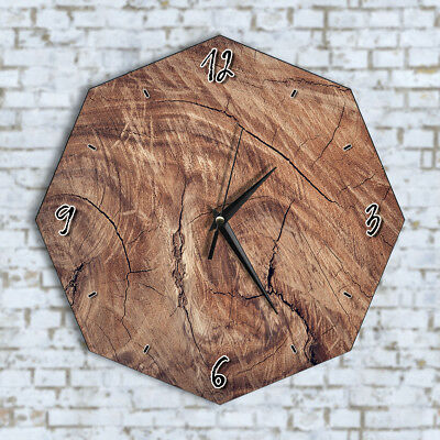 Old Wood Log - Home Office Kitchen Kids Living Room Decor Wall Clock