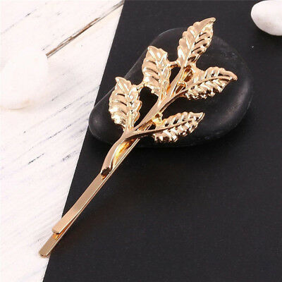 Women Girl Five Leaves Hairpin Hair Clip Head Jewelry Hair Accessories Gift LH